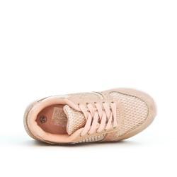 Cesta de niña rosa con encaje