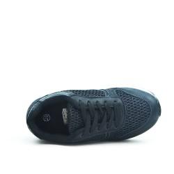 Basket fille noire à lacet