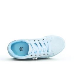 Tennis fille bleu détail pailleté