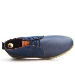Botín azul bi-material de bota