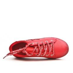 Basket enfant rouge à lacet