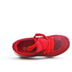 Basket enfant rouge en tissus extensible