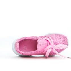 Basket enfant rose en tissus extensible