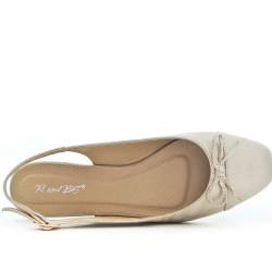 Golden ballerina with open heel