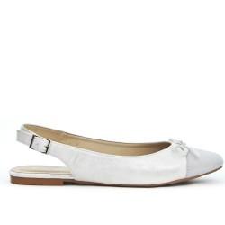 Silver ballerina with open heel