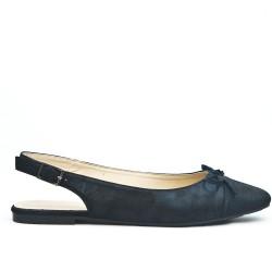 Black ballerina with open heel