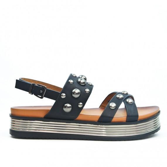 choisir le plus récent dernière remise nouveau sélection Sandale plateforme noire à perle