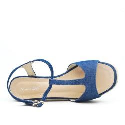 Sandale en jean bleu