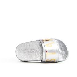 Sandale fille argent avec élastique