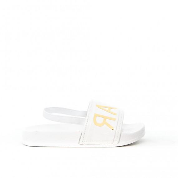 Sandale fille blanche avec élastique