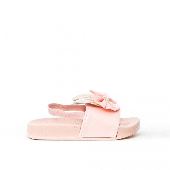 Pink girl sandal with rabbit pattern