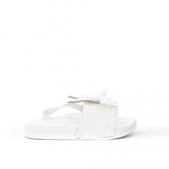 Sandale fille blanche à motif lapin