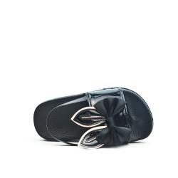 Sandale fille noire à motif lapin