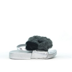 Gray girl bear sandal