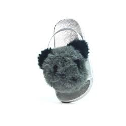 Sandalia de oso gris niña