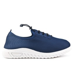 Blue sneaker with lace in large size