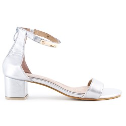 Silver sandal in large size