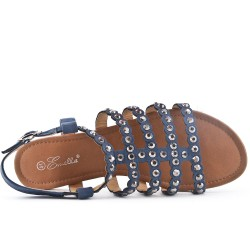 Sandalia plana azul de gran tamaño