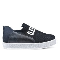 Black sneaker with glitter sole