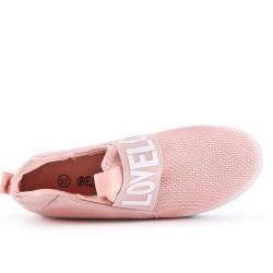 Cesto rosa con suela con lentejuelas