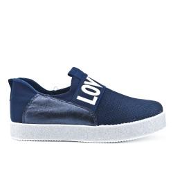 Blue sneaker with glitter sole