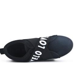 Basket noire à bande élastique