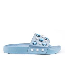 Blue slate decorated with rhinestones