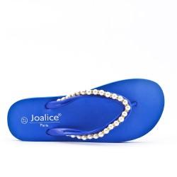Tong bleu à bijoux