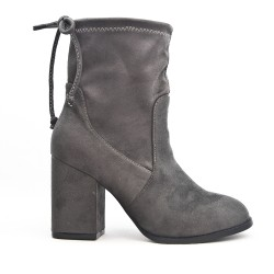 Gray suede ankle boot