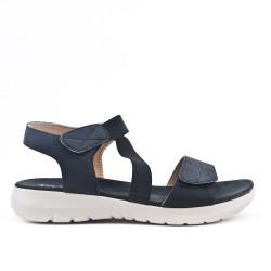 Sandale confort noire avec élastique
