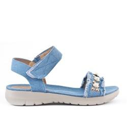 Sandale confort en jean bleu