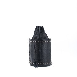 Small round shoulder bag