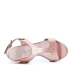Sandale rose à talon