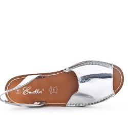 Sandale argent en vernis
