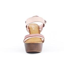 Sandale rose à plateforme