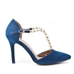 Sandale bleu à perle