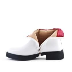 Botín de tobillo blanco