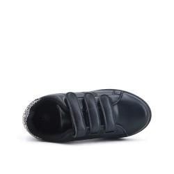Basket enfant noire à strass