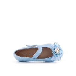 Ballerine fille bleu à fleur
