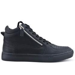 Basket noire zippé avec lacet