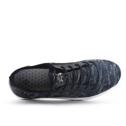 Basket noire en tissus extensible