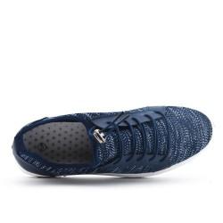 Basket bleu en tissus extensible