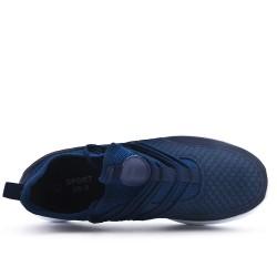 Basket bleu en tissus extensible à enfiler