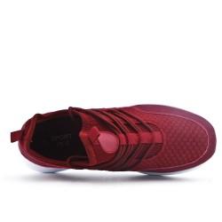 Basket rouge en tissus extensible à enfiler