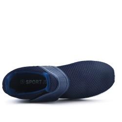 Basket bleu en tissus extensible à scratch