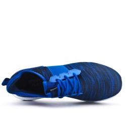 Cesta azul en telas elásticas