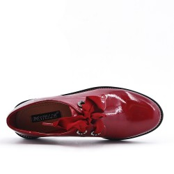 Burgundy Derby Lace-up Ribbon