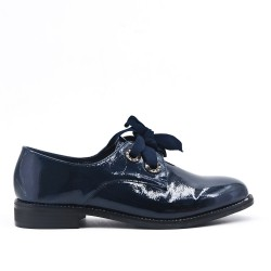 Navy Derby with ribbon lace