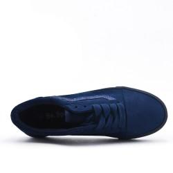 Basket bleu marine détail pailleté à lacet