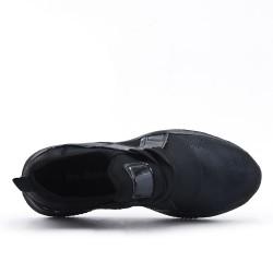 Black lace-up basket